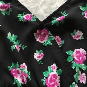 Forever 21 Other - NWOT Forever 21 black floral cami romper